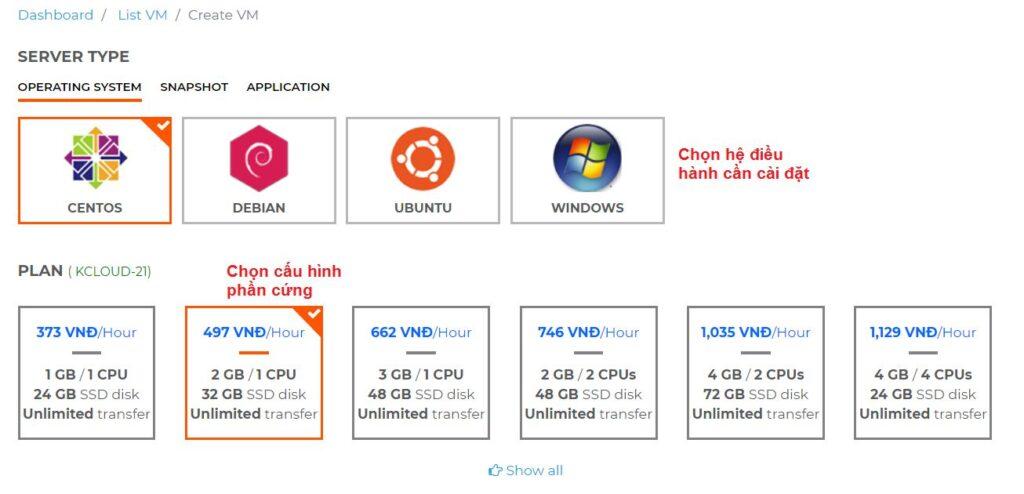 Hướng dẫn mua thêm băng thông trên KDATA Cloud (2)