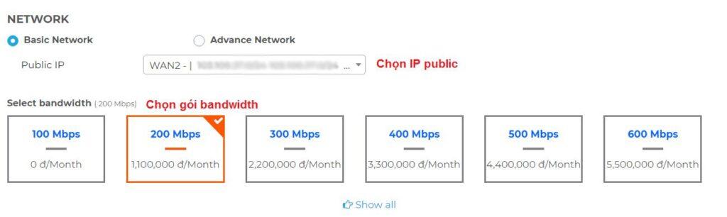 Hướng dẫn mua thêm băng thông trên KDATA Cloud (3)